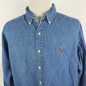 Recent Ralph Lauren XXL Denim Shirt Long Sleeve